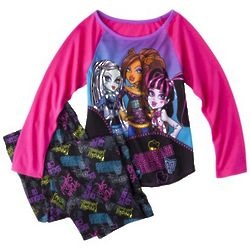 Monster Chic Girl's 2-Piece Long-Sleeve Pajamas
