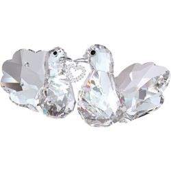 Swarovski Crystal Love Turtledoves with Heart Figurine