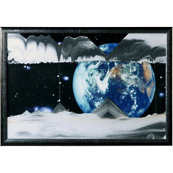 Earth Apollo 17 Sand Art Picture