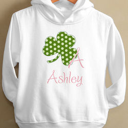 Shamrock Initial Toddler Hooded Sweatshirt