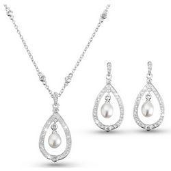 Freshwater Pearl Drop Necklace & Earring Set