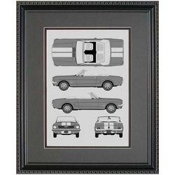 Ford Mustang Blueprint Art Print
