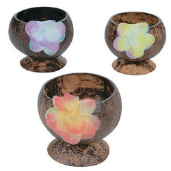 Coconut Cups with Flower Candy Dishes and Centerpieces