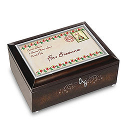 Personalized Letter From Santa and Handcrafted Wooden Music Box