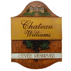 Personalized Chateau Plaque