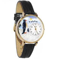Penguin Watch in Large Gold Case