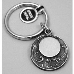 Personalized Round Filigree Keyring