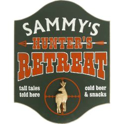 Hunter's Retreat Personalized Pub Sign