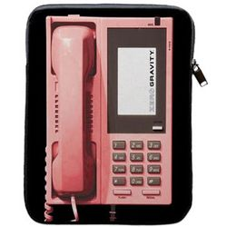"Pink Retro Phone 9"" Tablet Sleeve Case"