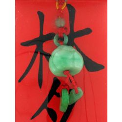 Feng Shui Jade Lotus Flower Luck Charm