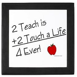 2 Teach Teacher Keepsake Box