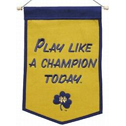 Play Like A Champion Today Notre Dame Fighting Irish Mini Banner