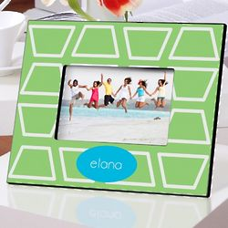 Personalized Geometric Lime Picture Frame