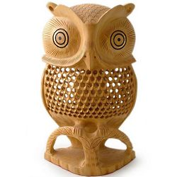 Night Owl Wood Statuette