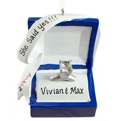 Personalized Engaged Ring She Said Yes Ornament