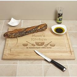 Personalized Seasoned with Love Cutting Board