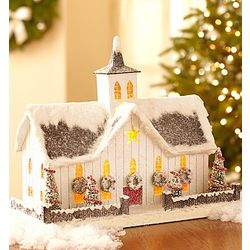Vintage White Christmas Barn