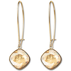 Gold Plated Swarovski Crystal Thankful Earrings