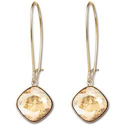 Gold Plated Swarovski Crystal Thankful Earrings
