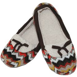 Chevron Sweater Knit Moccasin