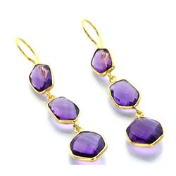 Royal Amethyst Drop Earrings
