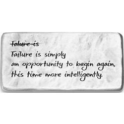 Failure is an Opportunity Pewter Paperweight