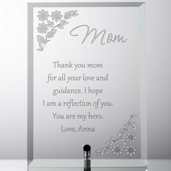 Personalized Floral Plaque for Mom