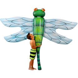 Jurassic-Sized Dragonfly Pool Float with Light-Up Eyes