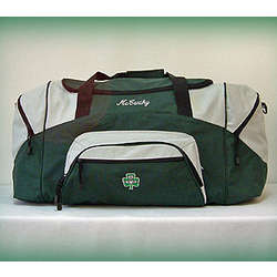 Large Personalized Color Block Duffle Bag