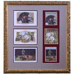 Outdoor Sportsman Collectors Series Framed Antique Cigar Labels