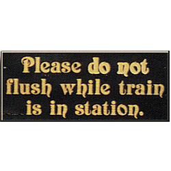 Do Not Flush Sign