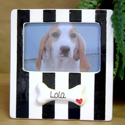Personalized Ceramic Dog Bone Frame