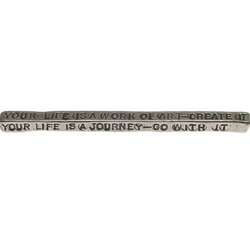 'Your Life Is A Journey' Paperweight Bar