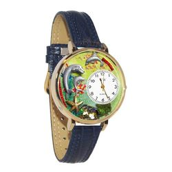 Dolphin Large Watch in Gold