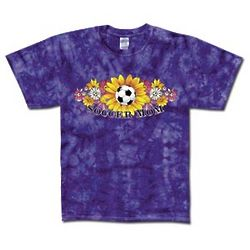 Soccer Mom Tie Dye Flowers T-Shirt