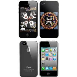 iPhone 4 Music Skins Bundle Package with Kiss Rock & Roll Over