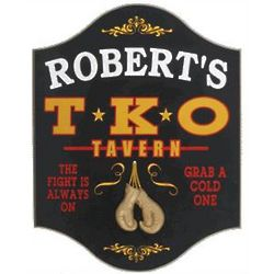 TKO Tavern Personalized Pub Sign