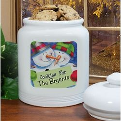 Personalized Ceramic Christmas Cookie Jar