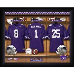 Personalized Kansas State Wildcats Locker Room Print