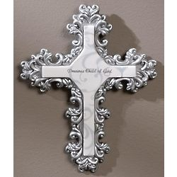 Decorative Baptism Wall Cross