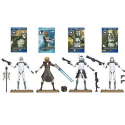 Star Wars Clone Troopers Action Figures and Cards