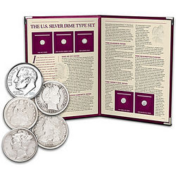 US Silver Dime Coin Set