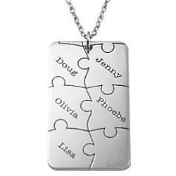 Personalized Family Puzzle Necklace