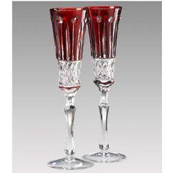 Elizabeth Ruby Crystal Champagne Flutes