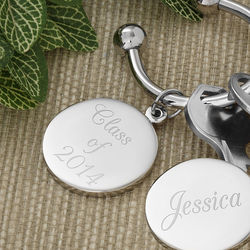 Personalized Silver-Plated Key Ring