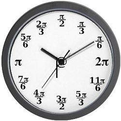 Pi Formula Numbers Clock
