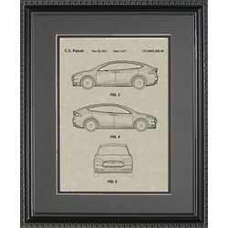 Tesla Model S Framed 11x14 Blueprint