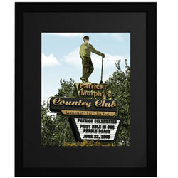 Personalized Golf Country Club Framed Print