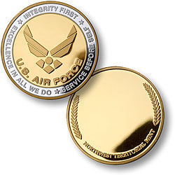 Personalized Military Keepsake Coin