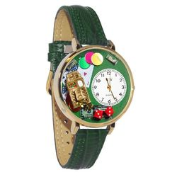 Casino Whimsical Watch in Large Gold Case